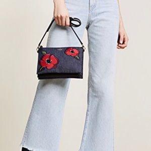 Brand new Kate Spade Denim Poppy Crossbody bag